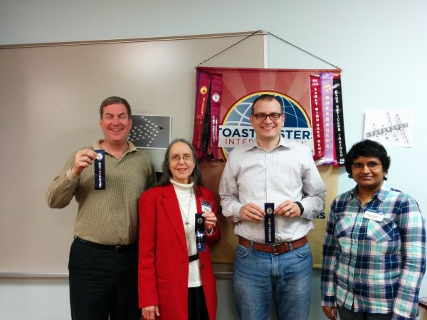 Hillcrest Toastmasters Winners for December 7, 2015